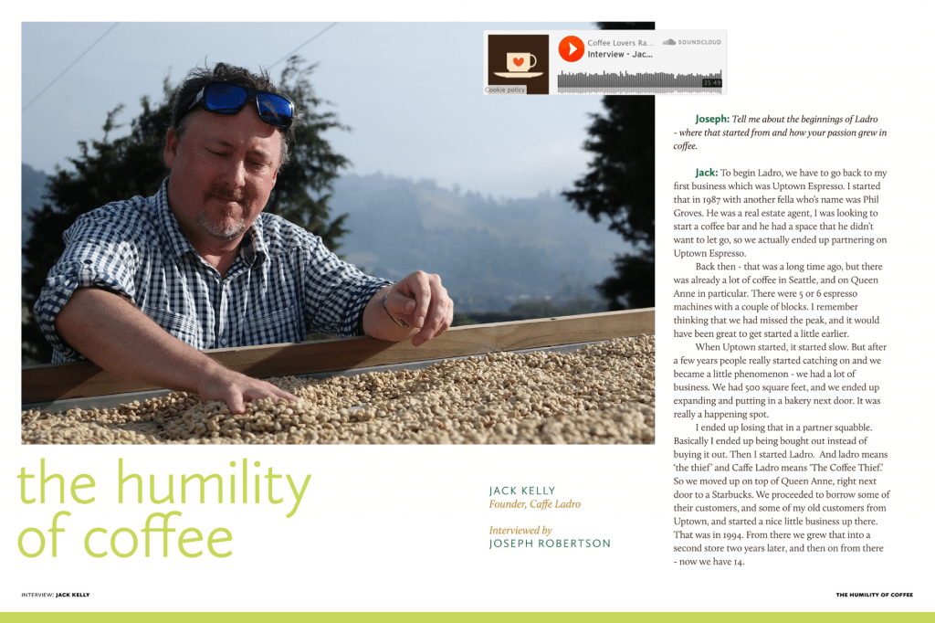 Coffee Magazine - Jack Kelly Interview