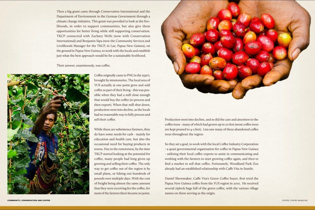 Coffee magazine - caffe vita - woodland park zoo