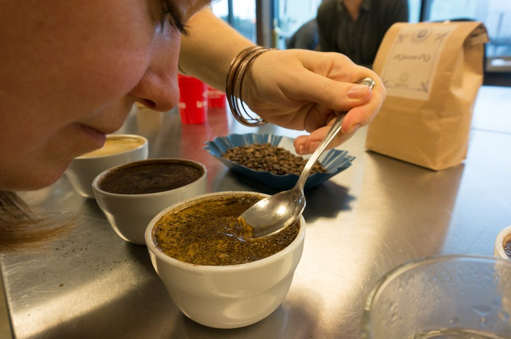 Cupping Coffee - Breaking the Crust
