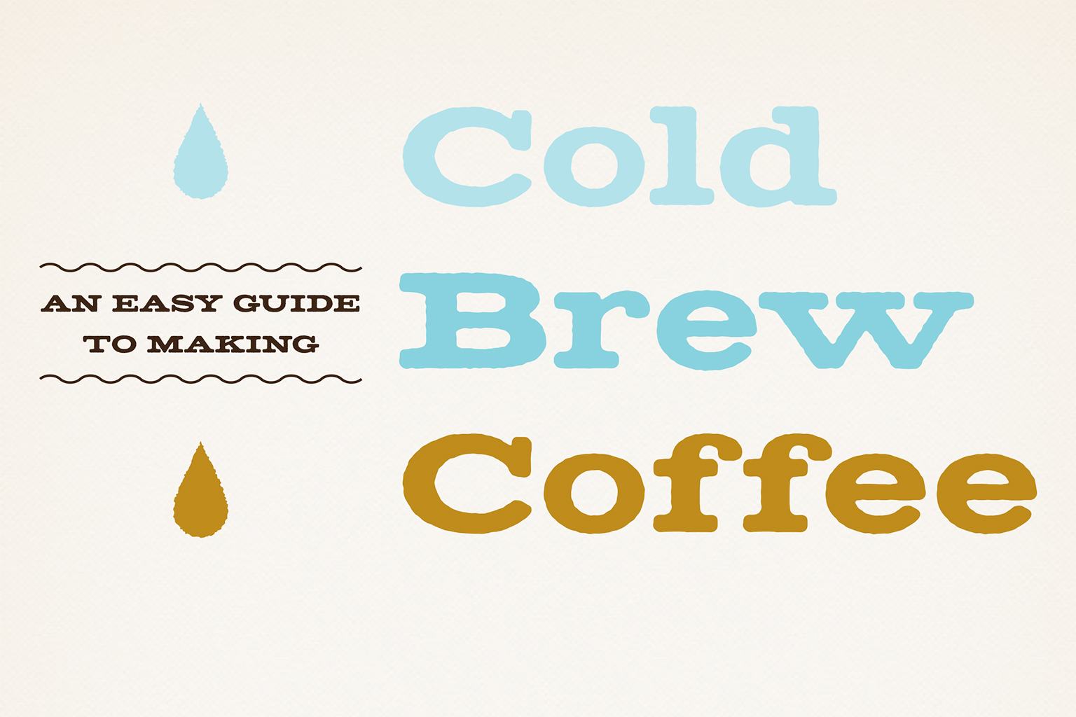 Cold Brew Coffee Step by Step Guide